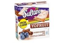 sultana yofruit bosbes kaneel