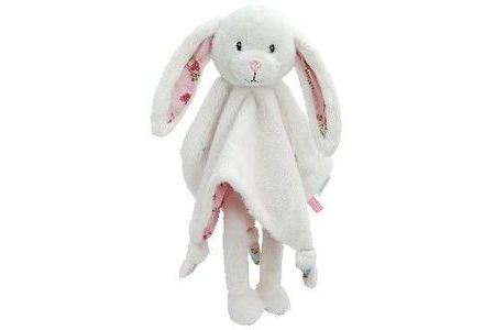 tiamo ld knuffeldoekje lang konijn pink blossom