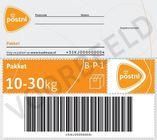 standaard pakketzegel postnl