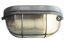 brilliant plafondlamp bobbi ovaal klein beton grijs glas