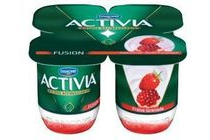 activia fruitfusion aardbei granaatappel