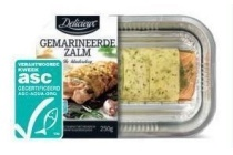 gemarineerde zalm in bladerdeeg