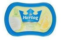 hertog sorbetpretje citroen