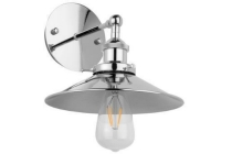 van heck wandlamp 22x19cm met led lamp 4 watt chroom