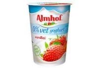 almhof 0 vet yoghurt aardbei