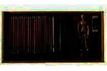 startset tekenen in houten doos