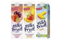 melkunie milk en fruit