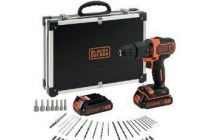 black decker accuschroef en klopboormachine 18v
