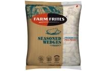 farm frites seasoned wedges