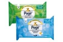 page vochtig toiletpapier 42 stuks