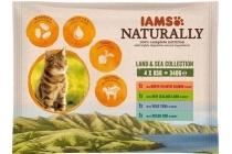 iams naturally cat wet land en sea vlees vis