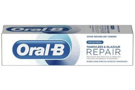 oral b tandpasta tandvlees en glazuur repair