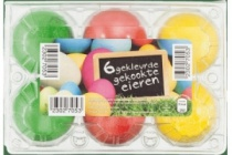 gekleurde gekookte eieren