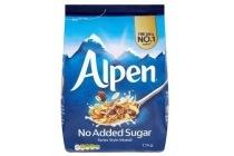 alpen suikervrije muesli