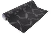 vliesbehang hexagon zwart dessin 103975