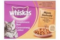 whiskas 4 x 85 gram