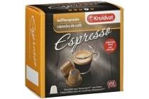 kruidvat koffiecapsules espresso