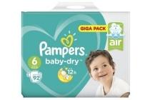 pampers baby dry maat 6 luiers