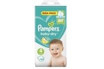 pampers baby dry maat 4 luiers