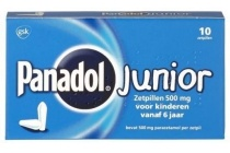 panadol junior 500 mg zetpillen voor kinderen vanaf 6 jaar