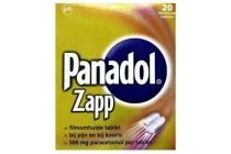 panadol zapp 500mg paracetamol