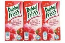 dubbelfriss framboos cranberry drinkpakjes