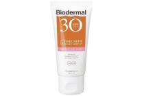 biodermal zonnecreme gevoelige huid gezicht spf 30