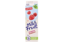 milk en fruit framboos cranberry