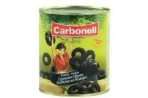 gesneden zwarte olijven