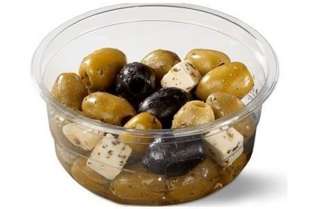 qualino verse olijven met zachte kaas
