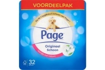 page toiletpapier origineel schoon