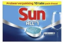 sun all in one vaatwastabletten probeerverpakking