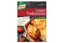 knorr maaltijdpakket trattoria lasagne tradizionale