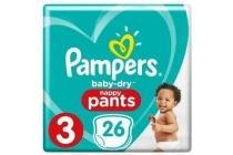 pampers baby dry pants maat 3 luierbroekjes
