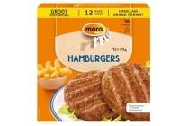 mora snacks hamburgers