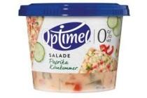 salade paprika komkommer