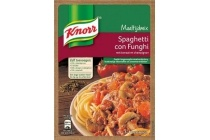 knorr spaghetti con funghi maaltijdmix