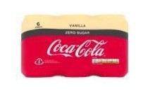 coca cola zero vanilla 6 pak