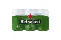 heineken coolcan 6 pack 6x0 33l