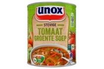 unox soep in blik stevige tomaat groentesoep