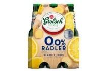 grolsch 0 0 radler gember citroen flessen 6 x 30cl