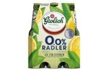 grolsch 0 0 radler ice tea citroen flessen 6 x 30cl