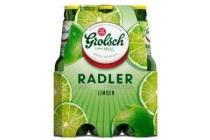 grolsch radler limoen flessen 6 x 30cl