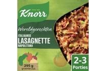 knorr wereldgerecht italiaanse lasagnette napoletana