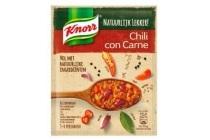 knorr maaltijd mix natuurlijk lekker chili con carne