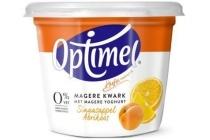 optimel magere kwark sinaasappel abrikoos