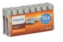 philips longlife batterijen 16 pack aaa