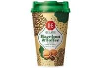 douwe egberts ice latte hazelnut en toffee