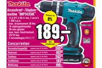 makita accuschroef  en klopboormachine dhp343she
