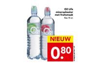 o2 life mineraalwater met fruitsmaak
